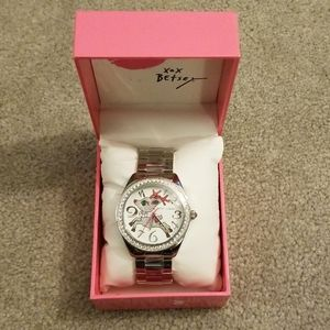 Betsey Johnson Rudolph silver Christmas watch